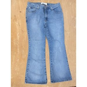 Express Blue Flare blue jeans 14 light wash